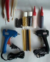 hair extension kits,glue gun,glue stick