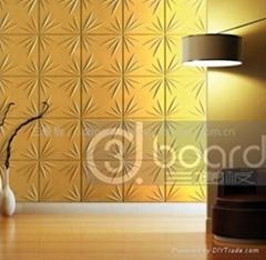 3d立体壁纸电视背景墙波浪板
