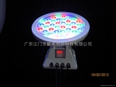 36W大功率全彩DMX512外控超聚光LED投光燈