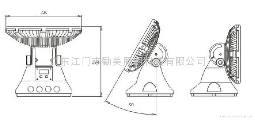 36W大功率全彩DMX512外控超聚光LED投光燈 3