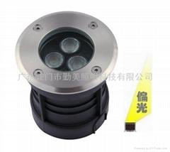 大功率LED3W暖黃色偏光地埋燈