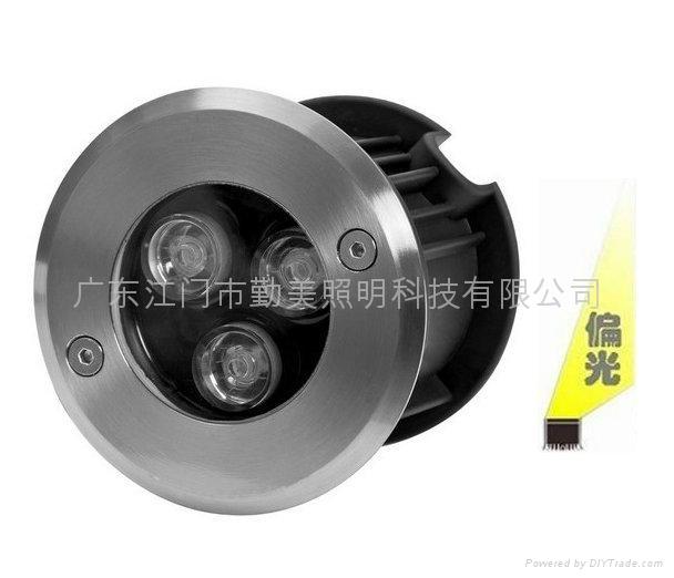 大功率LED3W暖黃色偏光地埋燈 3