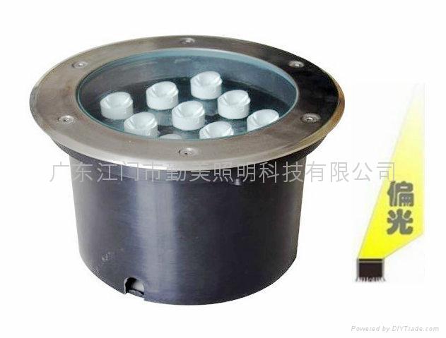 大功率LED3W暖黃色偏光地埋燈 4