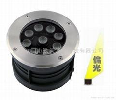全新款9W暖白色大功率LED偏光地埋燈