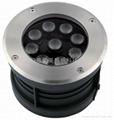全新款9W暖白色大功率LED偏光地埋燈 2