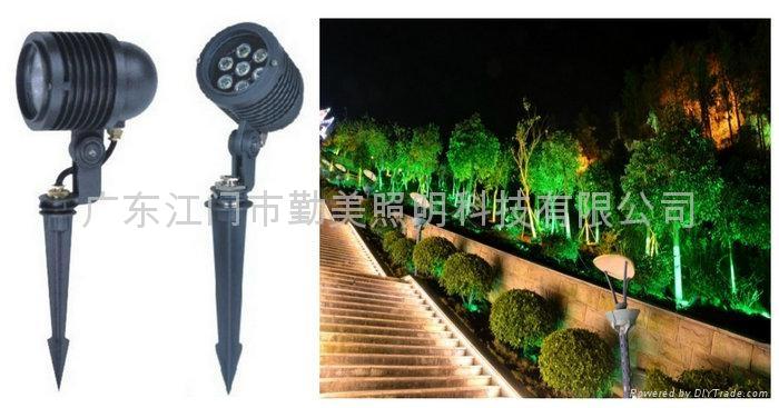 大功率LED草坪插地燈 1