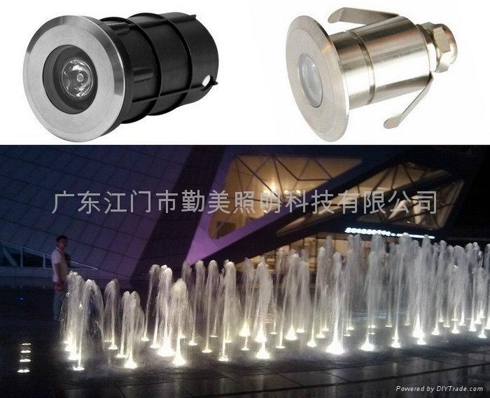 3W暖白色LED304不鏽鋼水下燈 1