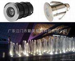 3W暖白色LED304不鏽鋼水下燈