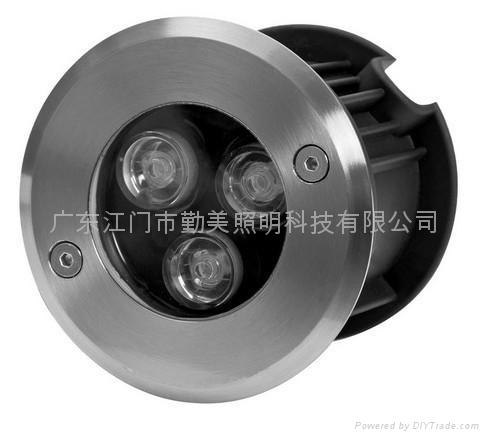 3W暖白色LED304不鏽鋼水下燈 2