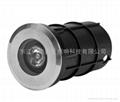 3W暖白色LED304不鏽鋼水下燈 5