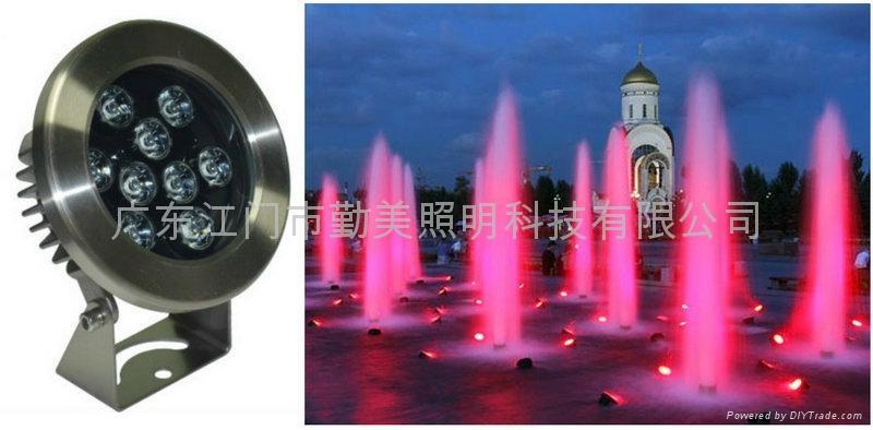 12W外控全彩LED不鏽鋼水下燈 1