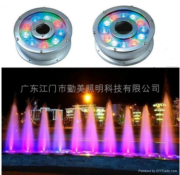 12W外控全彩LED不鏽鋼水下燈 2