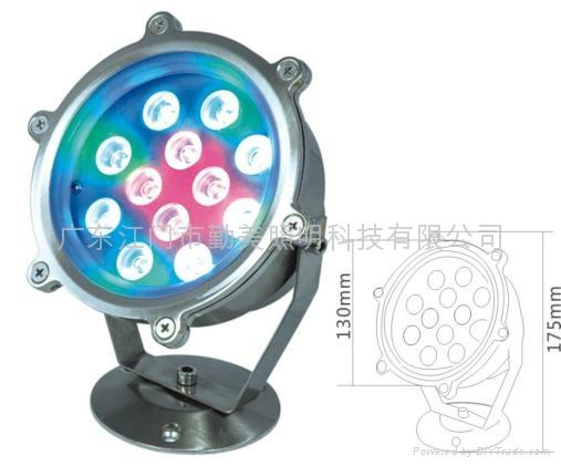 12W外控全彩LED不鏽鋼水下燈 3
