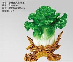 深圳千藝坊財富共贏白菜擺件