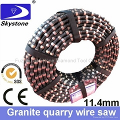 Diamond wire for granite quarry