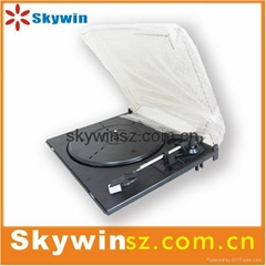 Hot USB 3-speed turntanle player with plastic dust cover