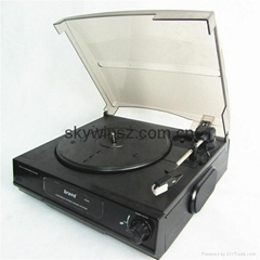 Vinyl 3 speeds USB turntable record player Compatible to 3 records