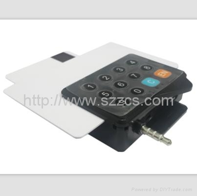 3.5mm audio jack usb EMV hybird mobile credit card reader mobile data terminal 1