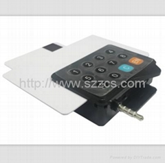 3.5mm audio jack usb EMV hybird mobile credit card reader mobile data terminal