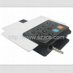3.5mm audio jack usb EMV hybird mobile credit card reader mobile data terminal