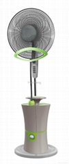 2015 new on sale electric fans with spray water mist standing fan