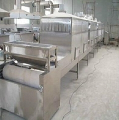 Microwave drying machine for