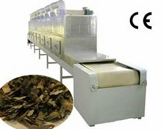 Lotus Leaf tea microwave drying