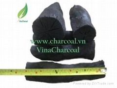 White and low ash natural hardwood charcoal for BBQ