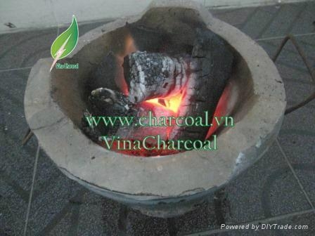 White and low ash natural hardwood charcoal for BBQ 3