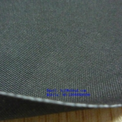Black Fireproof Neoprene Coated Fiberglass Fabric