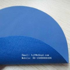 抗撕裂蓝色PVC复合人造棉布浮带面料