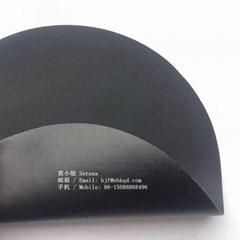 0.45mm可热压可高频焊接黑色丁晴橡胶夹丝布