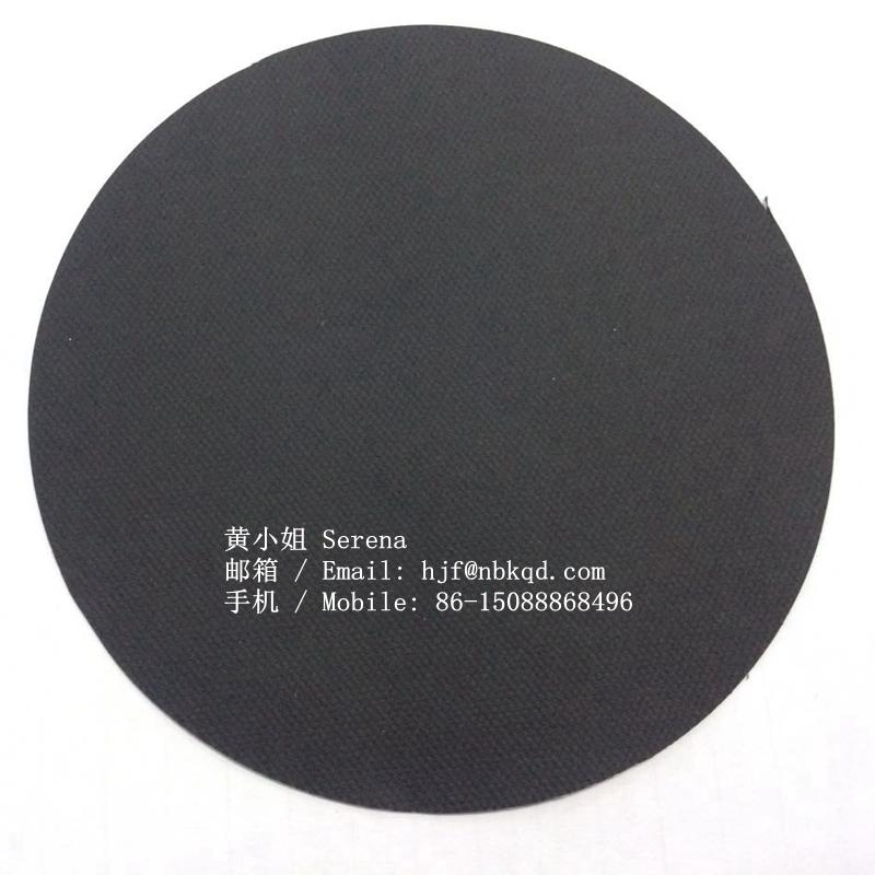 0.5mm Black B1 Flame Retardant PVC Coated Fiberglass Fabric 4