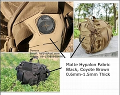 双面雾面海帕龙橡胶布1.0mm黑色 箱包底布