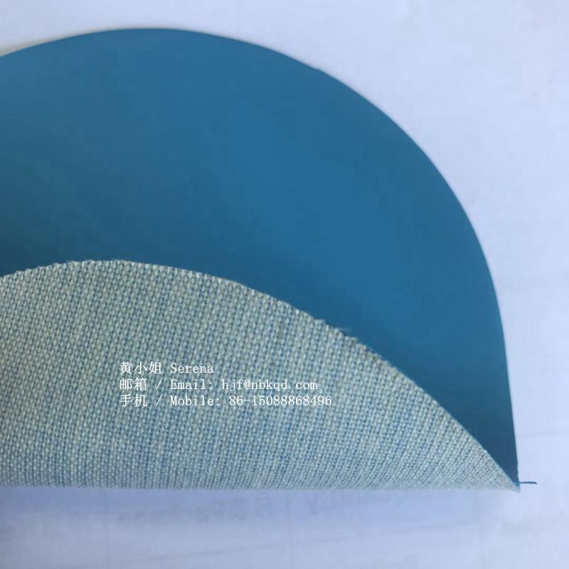 0.6mm藍色丁腈橡膠塗層芳綸用於工業手套 1