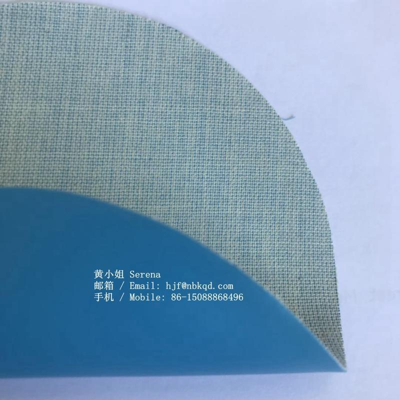 0.6mm藍色丁腈橡膠塗層芳綸用於工業手套 4