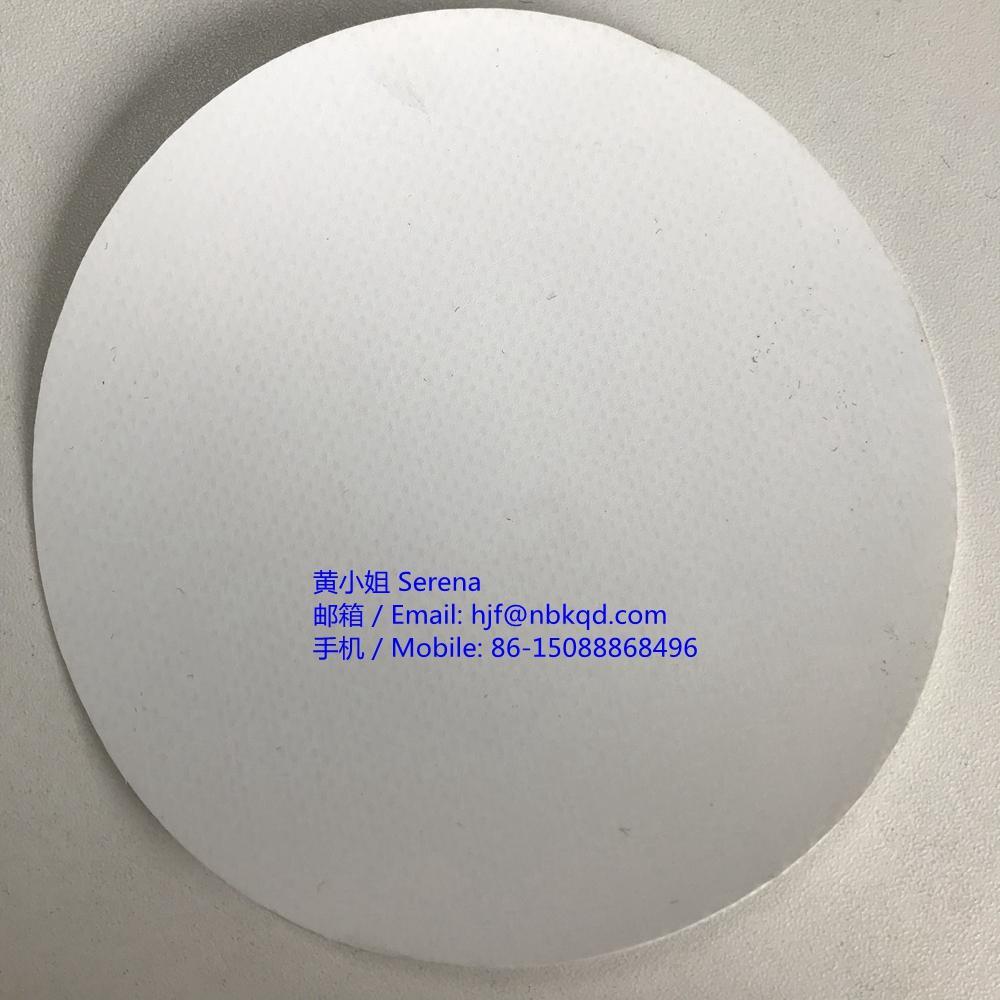 0.6mm生物相容性白色PVC夾網布料1000D 4