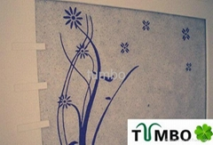 Bulk wall decoration Europe character natural fiber silk plaster wallpaper OEM