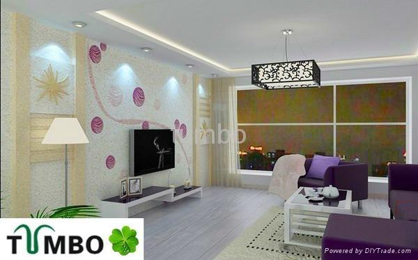 Bulk wall decoration Europe character natural fiber silk plaster wallpaper OEM 5