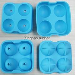 食品級 4孔硅膠冰球 夏季硅膠wiskey 冰球