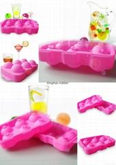 食品級 6孔硅膠冰球 夏季硅膠冰球