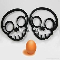 食品级硅胶骷髅头煎蛋器厨房用品