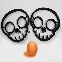 silicone egg frying ring skull shape