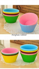 silicone muffion cup cake moldg/silicone kitchen set