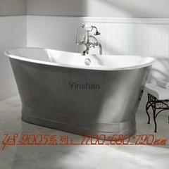 Massage cast iron bathtub