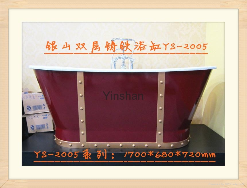 Massage cast iron bathtub 2