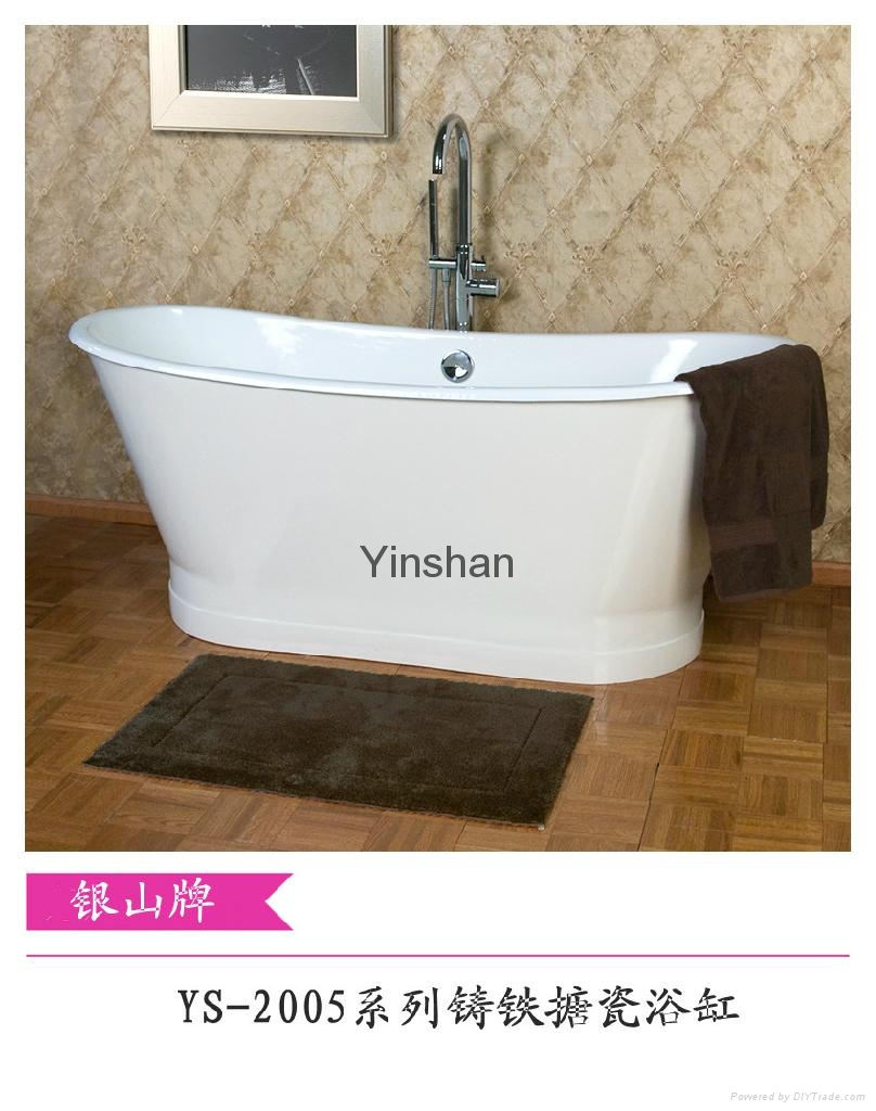 Massage cast iron bathtub 4