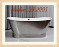 "68"" ROWLEY BATEAU CAST IRON SKIRTED TUB"