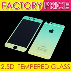 2.5D 9H colorTempered Glass Film Front and Back Side with Gradation of Color For