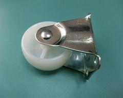 出口优质2寸白PP定向脚轮 凉衣架走水平线固定轮